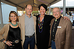 From left: Chairs Alie and David Pruner with state director of The Nature Conservancy in Texas, Laura Huffman and Jeff Weigel at the Nature Conservancy's Nature Rocks  Gala at the Houston Polo Club Thursday Oct. 22,2015.(Dave Rossman photo)