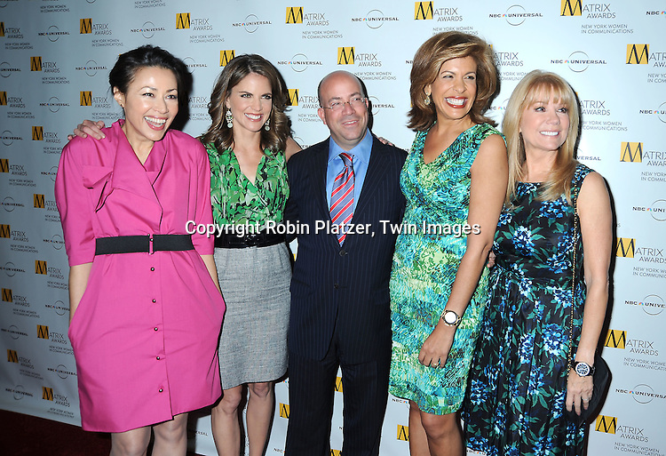 Ann Curry, Natalie Morales, Hoda Kotb, Jeff Zucker and Kathie Lee Gifford at The 2010 Matrix Awards on April 19, 2010 at The Waldorf Astoria Hotel in New York City.