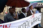 Demonstration und Kundgebung initiiert vom Ökumenischen Netz Zentralafrika am 31.5.2011 zum ersten Todestag des Menschenrechtlers Floribert Chebeya.