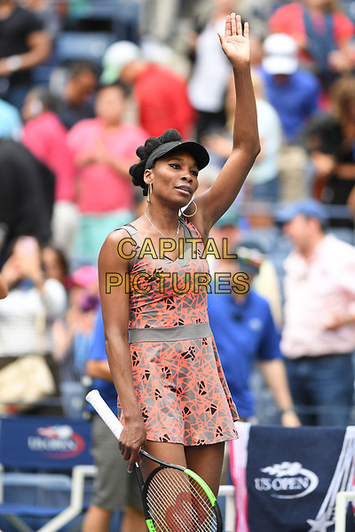 FLUSHING, NY- SEPTEMBER 01: ***NO NY DAILIES***  Venus Williams reacts after winning her match against Maria Sakkari during the 2017 US Open at the USTA Billie Jean King National Tennis Center on September 1, 2017 in Flushing Queens. <br /> CAP/MPI04<br /> &copy;MPI04/Capital Pictures