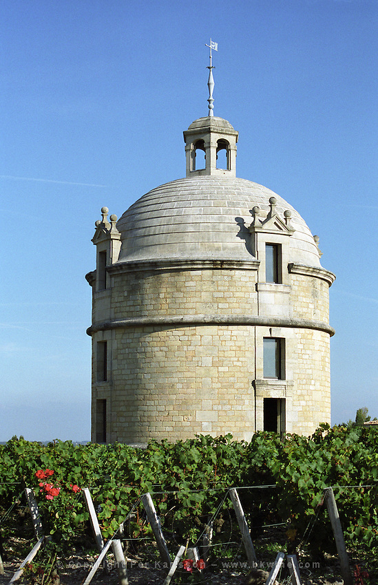 The tower. Chateau Latour, Pauillac, Medoc, Bordeaux, France