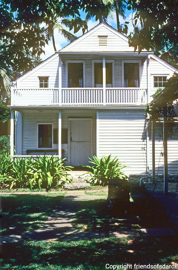 Honolulu: New England Mission House, 1821. Photo '82.