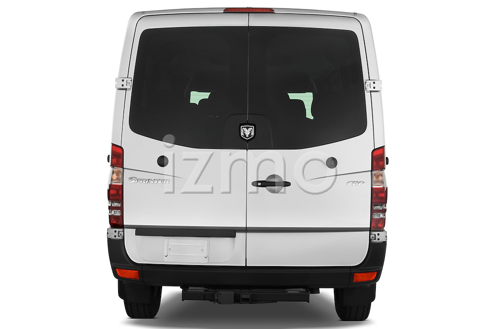 Straight rear view of a 2008 Dodge Sprinter Passenger Van