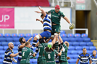Sebastian De Chaves of London Irish wins the ball at a lineout. Aviva Premiership match, between London Irish and Bath Rugby on November 19, 2017 at the Madejski Stadium in Reading, England. Photo by: Patrick Khachfe / Onside Images