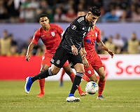 CHICAGO, IL - JULY 7: Edson Alvarez #4 during a game between Mexico and USMNT at Soldiers Field on July 7, 2019 in Chicago, Illinois.