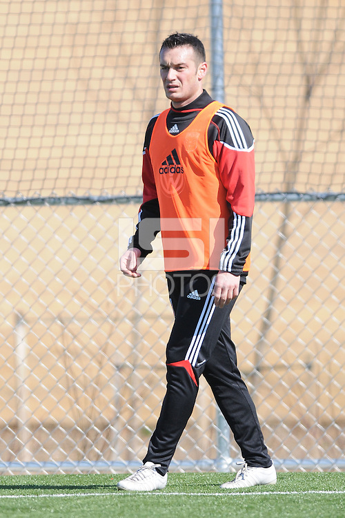 D.C. United forward Hamid Salihi (9) During the first training session after returning from Arizona, at Long Bridge Park in Arlington Virginia, Monday February 20, 2012.