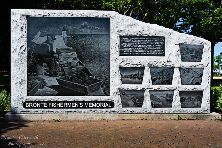 The Bronte Fishermen's Memorial in Oakville