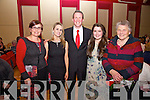 Pictured at the Help for Haiti concert in The Cahersiveen Community Centre on Saturday night were l-r; Anne Murphy, Nicola Mulligan-Ring, Gavin Ring, Iseult Ring & Mary Daly.