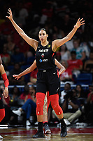 Washington, DC - July 13, 2019: Las Vegas Aces center Liz Cambage (8) gets back on defense during 1st half action of game between Las Vegas Aces and Washington Mystics at the Entertainment & Sports Arena in Washington, DC. (Photo by Phil Peters/Media Images International)