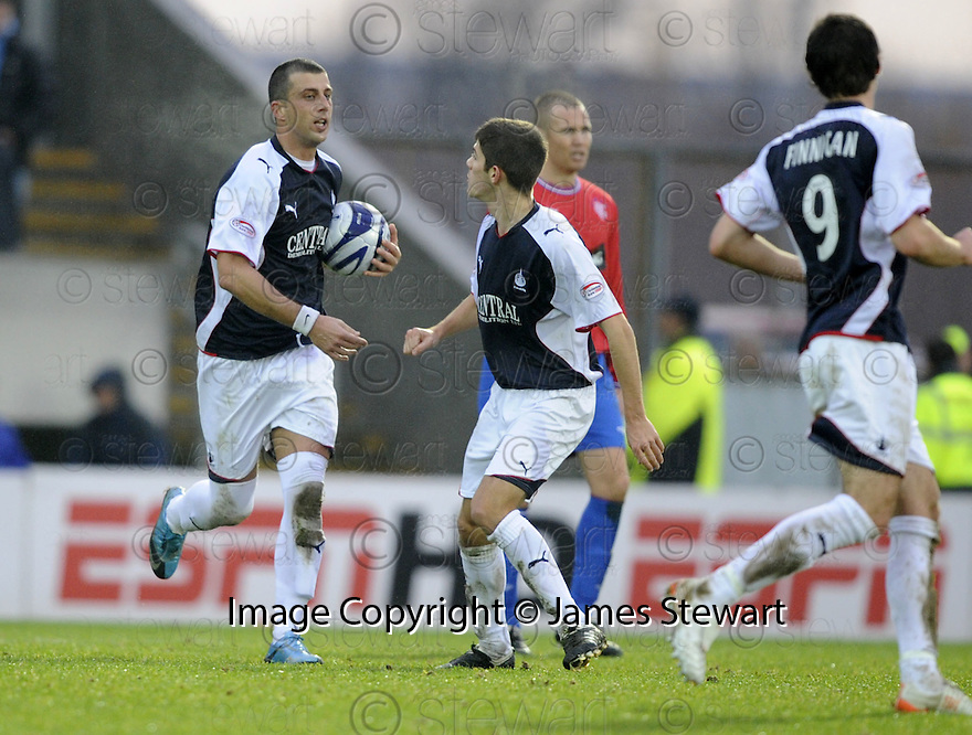 05/12/2009  Copyright  Pic : James Stewart.sct_jspa10_falkirk_v_rangers  . :: PEDRO MOUTINHO CELEBRATES AFTER HE SCORES FALKIRK'S FIRST :: .James Stewart Photography 19 Carronlea Drive, Falkirk. FK2 8DN      Vat Reg No. 607 6932 25.Telephone      : +44 (0)1324 570291 .Mobile              : +44 (0)7721 416997.E-mail  :  jim@jspa.co.uk.If you require further information then contact Jim Stewart on any of the numbers above.........