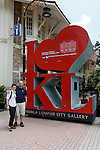 Allison and I pose for a picture in front of the I Love KL Sign at the Kuala Lumpur City Gallery on Wednesday April 24th 2013 in Kuala Lumpur, Malaysia. (Photo by Brian Garfinkel)