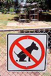 "Dog Excrement Prohibited in the park sign. After this sign was placed, controversy hit the city and the ""excrement"" was removed."