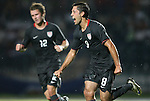 06 September 2008: Clint Dempsey (USA) celebrates after scoring a goal. The United States Men's National Team defeated the Cuba Men's National Team 1-0 at Estadio Nacional de Futbol Pedro Marrero in Havana, Cuba in a CONCACAF semifinal round FIFA 2010 South Africa World Cup Qualifier.