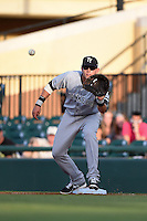 Tampa Yankees first baseman Matt Snyder (29) waits for a throw during a game against the Lakeland Flying Tigers on April 9, 2015 at Joker Marchant Stadium in Lakeland, Florida.  Tampa defeated Lakeland 2-0.  (Mike Janes/Four Seam Images)