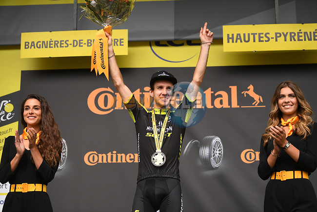 Simon Yates (GBR) Mitchelton-Scott wins Stage 12 of the 2019 Tour de France running 209.5km from Toulouse to Bagneres-de-Bigorre, France. 18th July 2019.<br /> Picture: ASO/Pauline Ballet | Cyclefile<br /> All photos usage must carry mandatory copyright credit (© Cyclefile | ASO/Pauline Ballet)