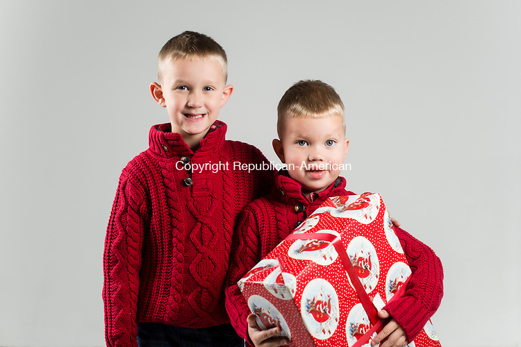 WATERBURY, CT- 10 December 2015-121015EC08-  Christmas Kids Metro. 5-year-old Nathan Nagrabski and his 3-year-old brother, Nicholas, are from Middlebury. Nathan wants Spiderman toys for Christmas. Nicholas' favorite thing about Christmas is the chocolates. Erin Covey Republican-American