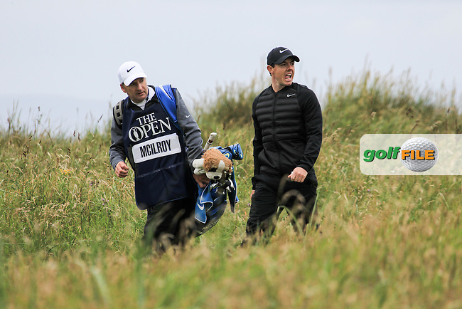 Rory McIlroy (NIR) during round 3 at The 145th Open Championship, Royal Troon golf club, Troon, Ayrshire, Scotland. 16/07/2016<br /> Picture Fran Caffrey / Golffile.ie<br /> <br /> All photo usage must carry mandatory copyright credit (&copy; Golffile | Fran Caffrey)