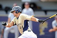 22 April 2012:  FIU catcher Aramis Garcia (44) bats as the University of Arkansas Little Rock Trojans defeated the FIU Golden Panthers, 7-6, at University Park Stadium in Miami, Florida.