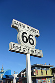 Stock photo of route 66 sign