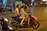 Two Gilrs On Motorbike