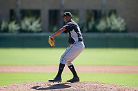 Chicago White Sox pitcher Bryan Saucedo (55) delivers a pitch to the plate during an Instructional League game against the Los Angeles Dodgers on September 30, 2017 at Camelback Ranch in Glendale, Arizona. (Zachary Lucy/Four Seam Images)