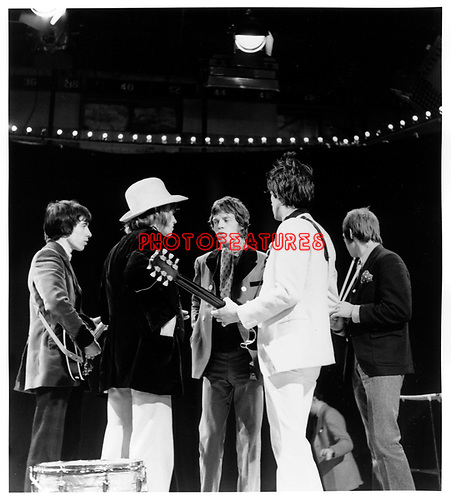 Rolling Stones 1967 on Top Of The Pops Bill Wyman Brian Jones Mick Jagger Keith Richards Charlie Watts<br /> &copy; Chris Walter