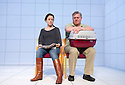 Love and Information by Caryl Churchill, directed by James MasDonald.  Depression with Amanda Drew, Paul Jesson. Opens at The Royal Court Theatre Downstairs  on 14/9/12.CREDIT Geraint Lewis
