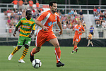 14 May 2010: Carolina's Etienne Barbara (MLT). The FC Tampa Bay Rowdies defeated the Carolina RailHawks 2-1 at WakeMed Stadium in Cary, North Carolina in a regular season U.S. Soccer Division-2 soccer game.
