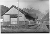 Telluride depot looking east.<br /> RGS  Telluride, CO  Taken by Kelley, Frank O. - 5/29/1949