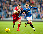 Michael O'Halloran shows great pace and strength to get past Dale Hilson