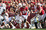 Wisconsin Badgers running back Jonathan Taylor (23) carries the ball during an NCAA College Football game against the Florida Atlantic Owls Saturday, September 9, 2017, in Madison, Wis. The Badgers won 31-14. (Photo by David Stluka)