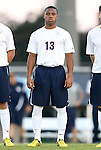 21 September 2012: Virginia's Kyler Sullivan. The University of North Carolina Tar Heels defeated the University of Virginia Cavaliers 1-0 at Fetzer Field in Chapel Hill, North Carolina in a 2012 NCAA Division I Men's Soccer game.