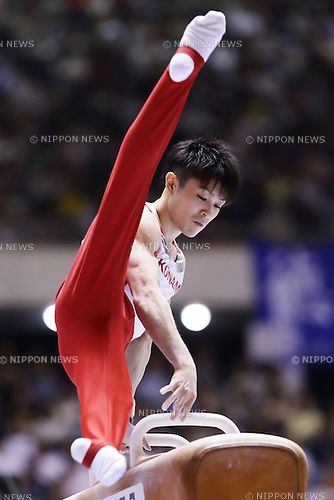 Kohei Uchimura, <br /> MAY 5, 2016 - Artistic Gymnastics : Pommel Horse in the Mens Individual All-Around during the 55th NHK Trophy at Yoyogi 1st Gymnasium, Tokyo, Japan. (Photo by AFLO)
