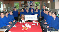 Pictured are pupils from Milltown school who held a coffee morning in aid of Kerry Hospice and raised 1050.00 euros<br />