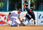 11 March 2009: New York Yankees' infielder Cody Ransom steals second during a Spring Training game against the Detroit Tigers at Joker Marchant Stadium in Lakeland, Florida. The Tigers defeated the Yankees 7-4 in the Grapefruit League matchup. Mandatory Photo Credit: Ed Wolfstein Photo