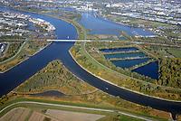 Ausgleichsflächen an der Elbe: EUROPA, DEUTSCHLAND, HAMBURG, BERGEDORF, (EUROPE, GERMANY), 13.10.2018: Ausgleichsflächen an der Elbe, Neue Heimat für den Schierlings-Wasserfenchels auf der Billwerder Insel nahe des Holzhafen in dem nicht mehr in Nutzung befindlichen Absetzbecken der Hamburger Wasserwerke. Nach Bearbeitung und Bau von Prielen und Bewaesserung durch die Tiedeelbe würde ein 14 Hektar grosses Gebiet entstehen.