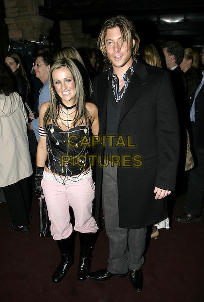 DUNCAN JAMES - BLUE.Woman In White Press Night, Palace Theatre, Shaftesbury Avenue, London.September 15th, 2004.full length, black coat .www.capitalpictures.com.sales@capitalpictures.com.© Capital Pictures.