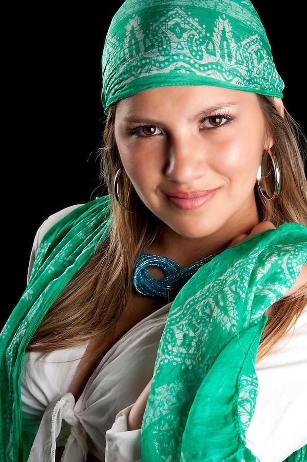 Young caucasian woman smiling very sensual.