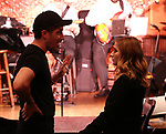 """Director Will Nunziata with Jackie Evancho in rehearsal for new show """"The Debut"""" inspired by the great tradition of Broadway musicals at Feinsteins/54 Below on June 11, 2019 in New York City."""