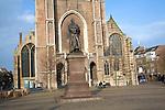 Hugo Grotius statue, Nieuwe Kerk, Delft, Netherlands