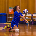 2 November 2014: Yeshiva University Maccabee Outside Hitter Eliana Levy, a Junior from Houston Texas, in action against the Sarah Lawrence Gryphons at SUNY Purchase College, in Purchase, NY. The Maccabees defeated the Gryphons 3-2 in the NCAA Division III Women's Volleyball Skyline matchup. Levy ended her 2014 season with 8 Digs and 3 Aces for the Lady Macs. Mandatory Credit: Ed Wolfstein Photo *** RAW (NEF) Image File Available ***