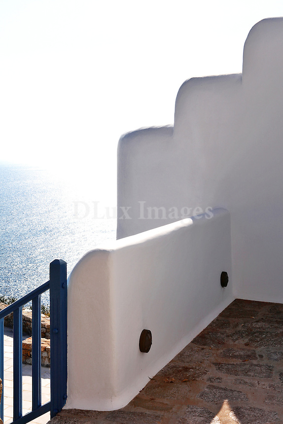 cycladic balcony with sea view
