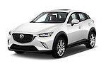 2017 Mazda CX-3 Touring-AWD 5 Door SUV Angular Front stock photos of front three quarter view