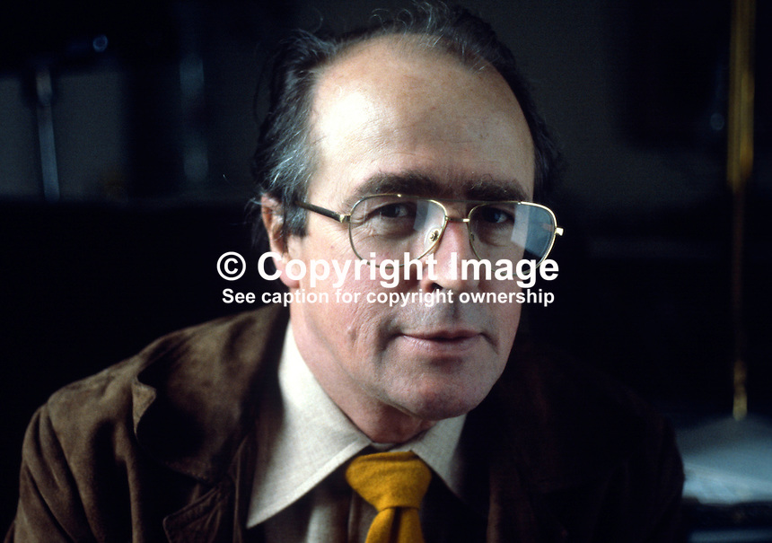Douglas Gageby, editor, Irish Times, Dublin, Ireland, 1978110308D..Copyright Image from Victor Patterson, 54 Dorchester Park, Belfast, UK, BT9 6RJ..Tel: +44 28 9066 1296.Mob: +44 7802 353836.Voicemail +44 20 8816 7153.Skype: victorpattersonbelfast.Email: victorpatterson@mac.com.Email: victorpatterson@ireland.com (back-up)..IMPORTANT: If you wish to use this image or any other of my images please go to www.victorpatterson.com and click on the Terms & Conditions. Then contact me by email or phone with the reference number(s) of the image(s) concerned.