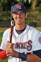 Tennessee Smokies third baseman Kris Bryant #17 before a game against Huntsville Stars at Smokies Park on April 25, 2014 in Kodak, Tennessee. The Stars defeated the Smokies 15-1. (Tony Farlow/Four Seam Images)