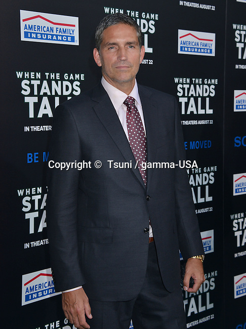 Jim Caviezel 122 at the When The Game Stands Tall Premiere at the Arclight Theatre in Los Angeles.