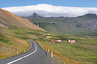 Mountainous Coast & Farm, Snaefellsnes Peninsula, Iceland
