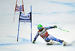 December 4, 2011:  Team USA's Ted Ligety charges to a second place finish in the Giant Slalom at the Audi Birds of Prey FIS World Cup ski championships at Beaver Creek Ski Resort, Colorado.
