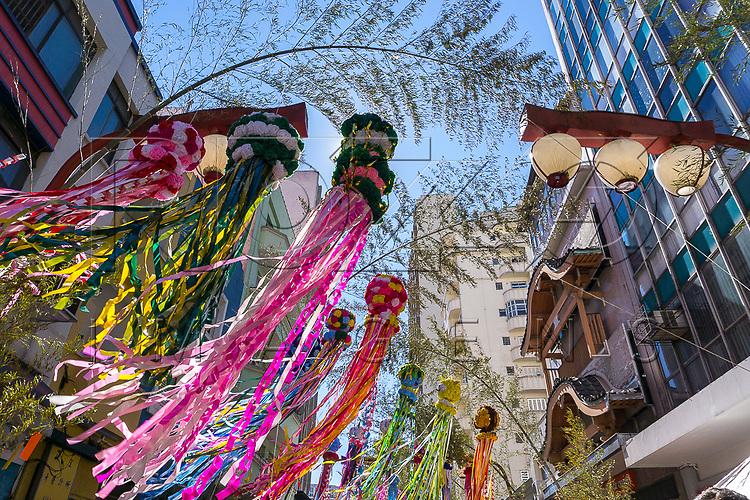Festival das Estrelas - festa japonesa nas ruas do bairro Liberdade com destaque para tanabatas, São Paulo - SP, 07/2016.