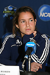 04 December 2008: Junior Courtney Rosen. The Notre Dame Fighting Irish held a press conference at WakeMed Soccer Park in Cary, NC one day before their NCAA Women's College Cup semifinal game.